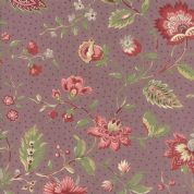 Moda - Jardin de Versailles - French General - 5892 -  Floral on Plum - 13810 14 - Cotton Fabric